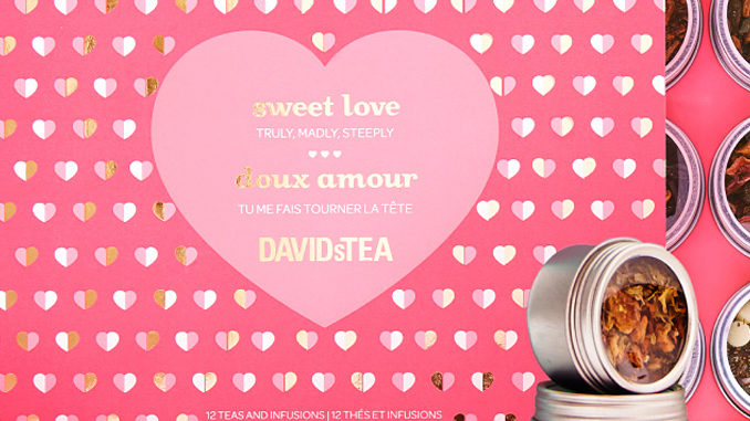 DAVIDsTEA Offers Two 12-Count Tea Samplers For $40 For Valentine's 2017