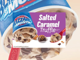 Dairy Queen Canada's Blizzard Of The Month For March 2017 Is Salted Caramel Truffle