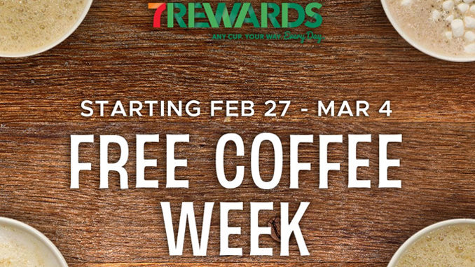 Free Coffee At 7-Eleven Canada From February 27 Through March 4, 2017