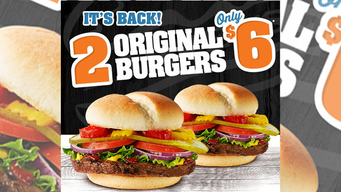 Get 2 Original Burgers At Harvey's For $6 Through March 12, 2017
