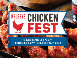 Kelseys Offers Chicken Fest Through March 26, 2017