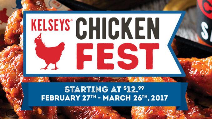 Kelseys Offers Chicken Fest Through March 26, 2017