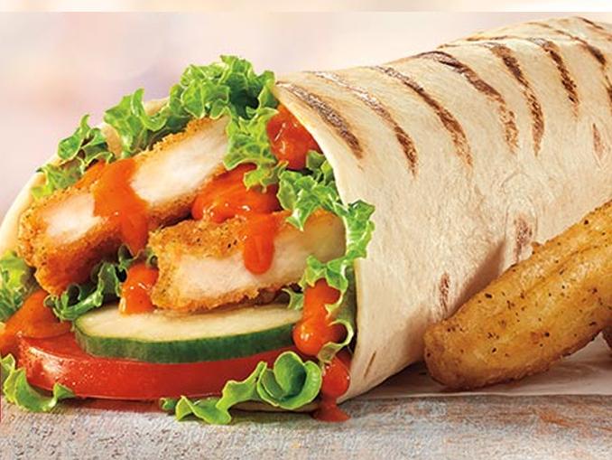 Chicken Wraps Fast Food