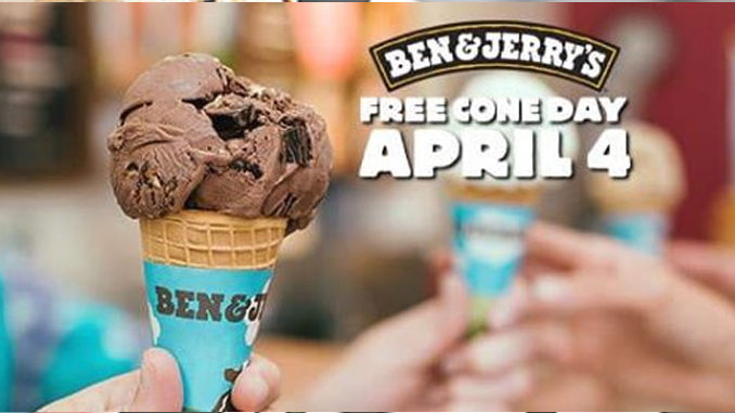 Ben & Jerry's Canada Celebrates Free Cone Day On April 4, 2017