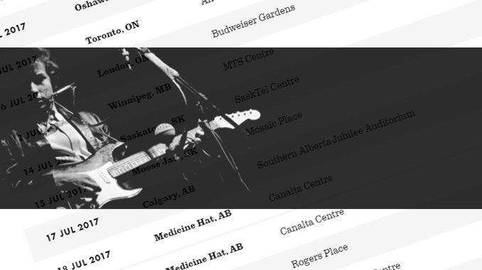 Bob Dylan Announces 2017 Cross-Canada Summer Tour Dates