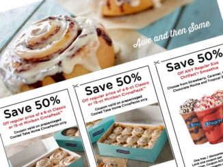 Cinnabon Canada Offers Half-Off Minibon CinnaPacks And Smoothies Through April 2, 2017