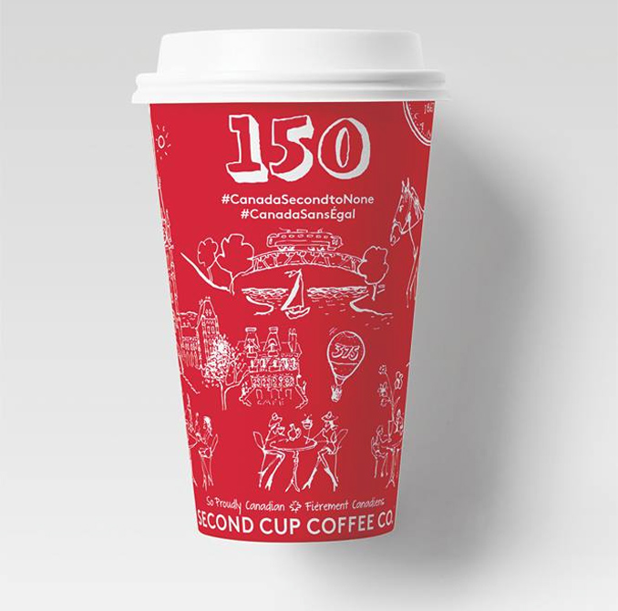 Second Cup Canada 150 Cup By John Coburn