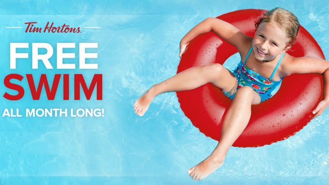 Tim Hortons Sponsors Free Swims During March 2017 At Pools Nationwide