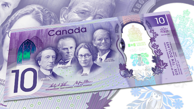 Bank Of Canada Unveils New $10 Bank Note