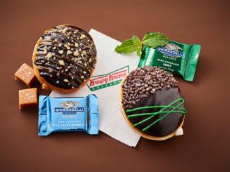 Krispy Kreme Canada Offers New Mint Chocolate And Sea Salt Caramel Doughnuts Made With Ghirardelli Chocolate