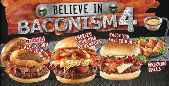 The Works Baconism menu