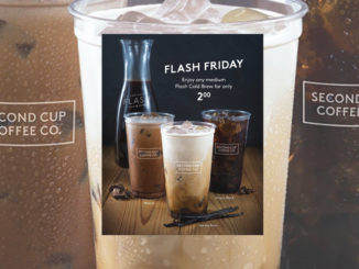 $2.00 Medium Flash Cold Brew Coffee At Second Cup Every Friday During May 2017