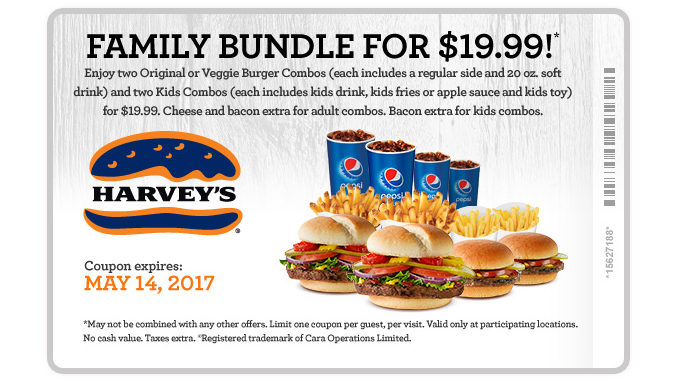 Harvey's Offers $19.99 Family Bundle Through May 14, 2017