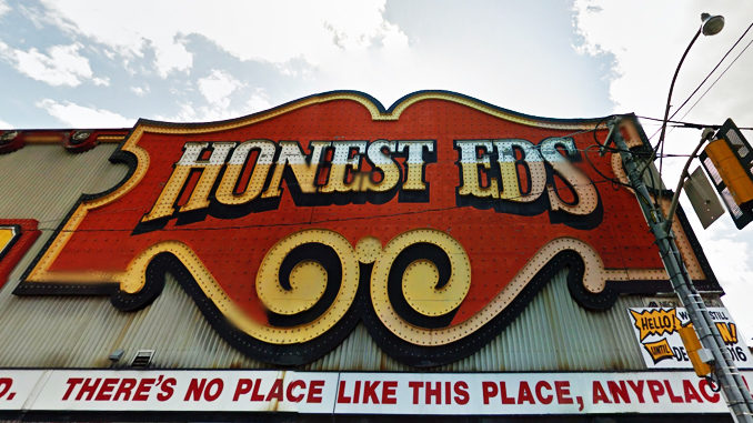 Iconic Honest Ed's Sign Comes Down Today In Toronto
