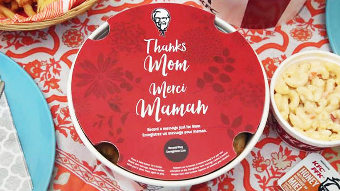 KFC Canada Brings Back Recordable Mother's Day Bucket For 2017