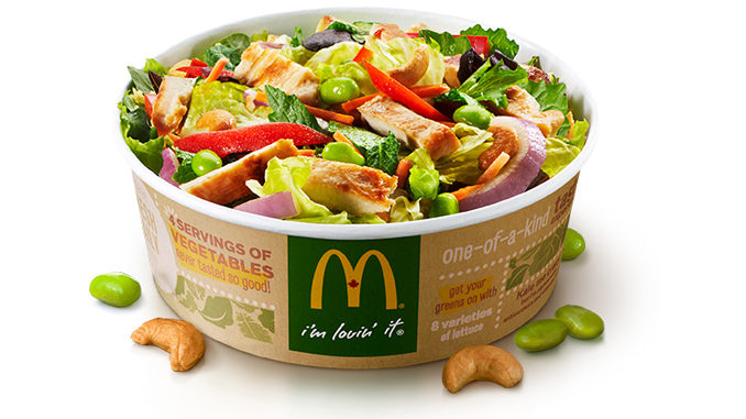 Asian calorie in mcdonalds salad