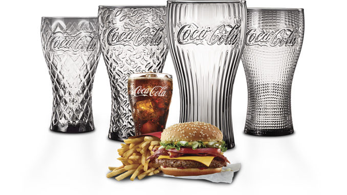 28d33423fad22f McDonald's Canada Is Giving Away Limited-Edition Coca-Cola Glasses ...