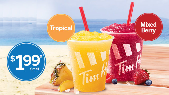 Tim Hortons Adds Two New Real Fruit Chill Flavours For Summer 2017