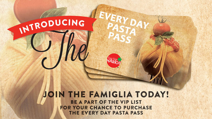 Here's How To Get An Every Day Pasta Pass From East Side Mario's