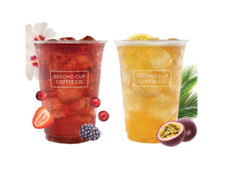 Second Cup Adds New Berry Hibiscus And Green Passionfruit Sparkling Teas