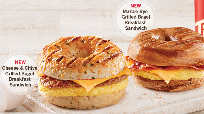 Tim Hortons Adds New Grilled Bagel Breakfast Sandwiches