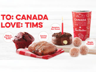Tim Hortons Launches Canadian-Themed Treats For Canada's 150th Birthday