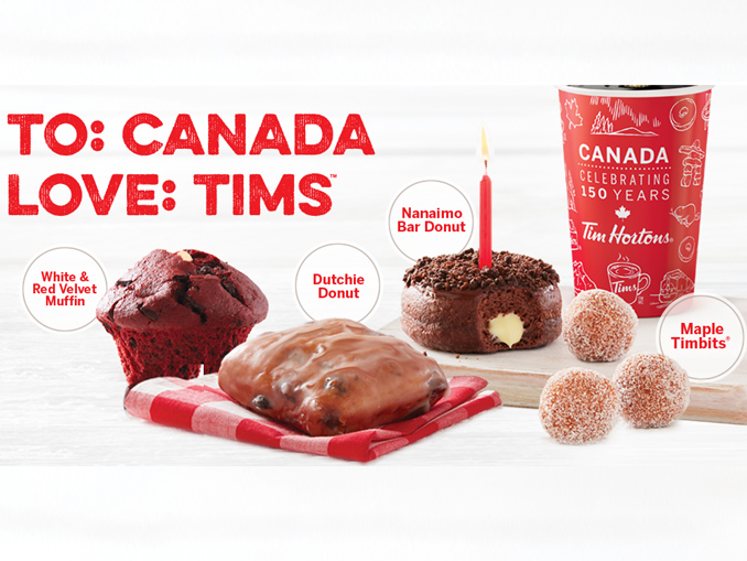 Tim Hortons Launches Canadian Themed Treats For Canadas 150th