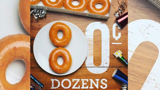 Buy Any Dozen Get A Dozen Original Glazed For 80-Cents At Krispy Kreme Canada On July 14, 2017