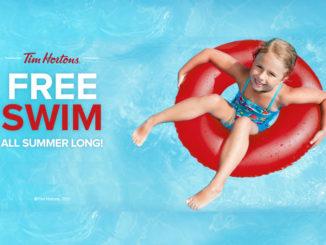 Tim Hortons Sponsors Free Swims All Summer Long For 2017