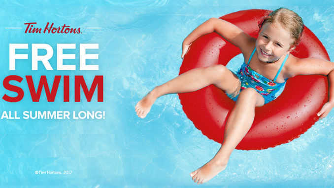 Tim Hortons Sponsors Free Swims All Summer Long For 2017
