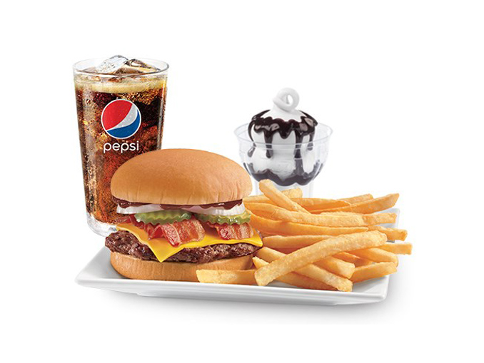 more deals 3 Different $6 Meal Deals. DQ Dairy Queen Canada has announced new $6 Meal Deals! The meal deals include: Chicken wrap, fries, a drink, and a sundae; 3 piece chicken strips, fries, a drink, and a sundae; Deluxe cheeseburger, fries, a drink and a sundae; Yes, all of these meals are only $6 each! Plus, you can swap out your sundae for a small blizzard instead for just $1 more.
