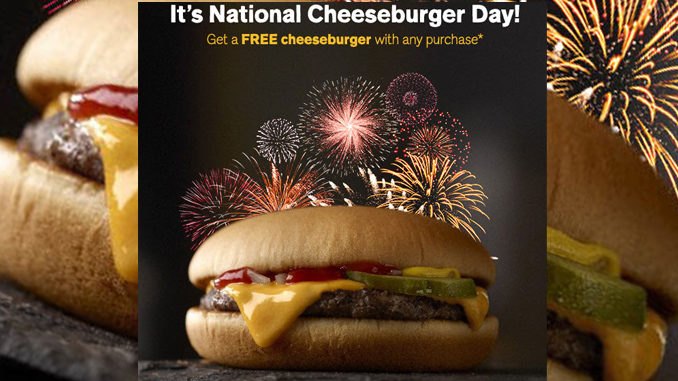Mcdonalds National Cheeseburger Day Canada