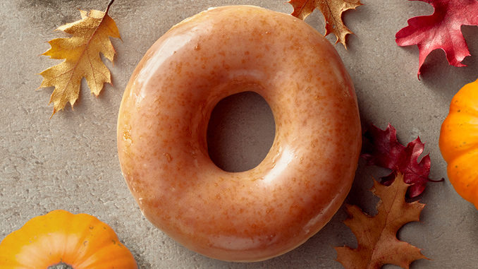 Krispy Kreme Canada's Pumpkin Spice Original Glazed Doughnuts Returns On September 8, 2017