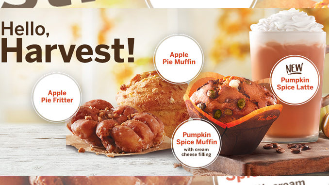 Tim Hortons Introduces 2017 Fall Harvest Menu