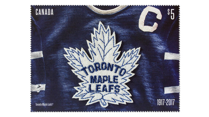 Canada Post Honours Toronto Maple Leafs With First-Ever Fabric Stamp