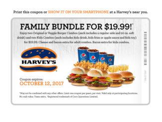 Get A $19.99 Family Bundle Deal At Harvey's Through October 12, 2017