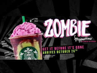 Starbucks Canada Pours New Zombie Frappuccino Through October 31, 2017