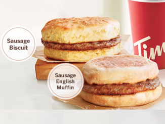 99-Cent Sausage Biscuit Or Sausage English Muffin With Any Drink Purchase At Tim Hortons