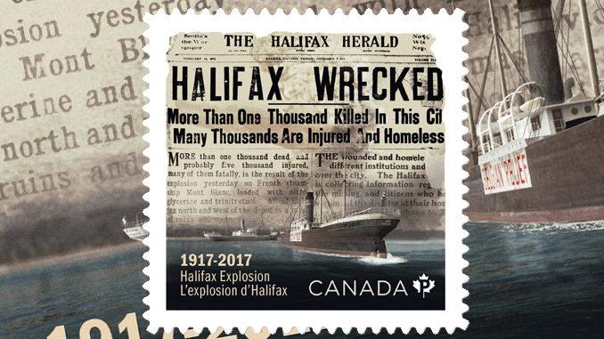 Canada Post Unveils Halifax Explosion Stamp
