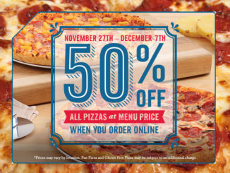 Domino's Canada Offers 50% Off All Online Pizza Orders Through December 7, 2017