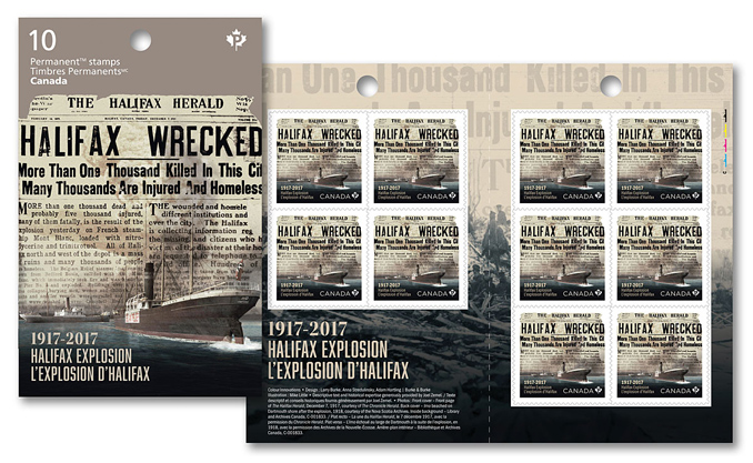 New Halifax Explosion Stamps