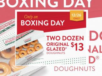 2 Dozen Original Glazed Doughnuts For $13 At Krispy Kreme Canada On December 26, 2017