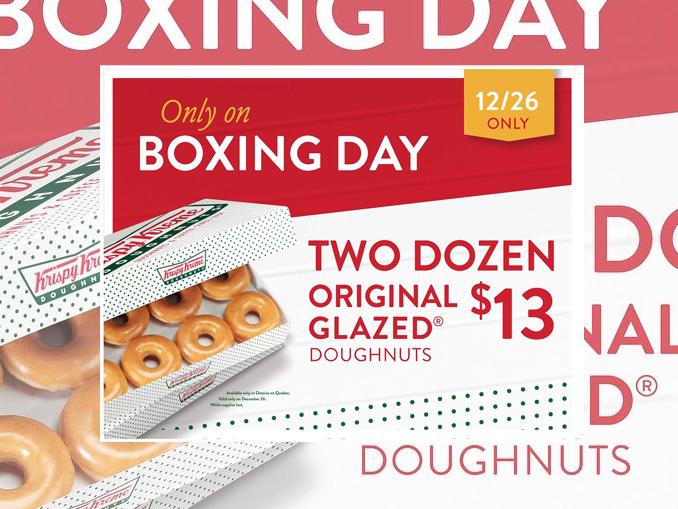 2 dozen original glazed doughnuts for 13 at krispy kreme. Black Bedroom Furniture Sets. Home Design Ideas