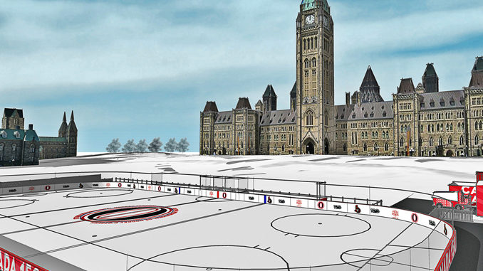 Canada 150 Rink On Parliament Hill Opens Today