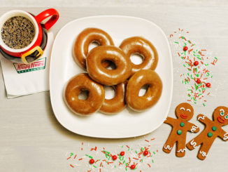 Krispy Kreme Canada Will Be Selling Gingerbread Glazed Doughnuts On December 12, 2107