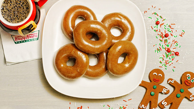 Krispy Kreme Canada Will Be Selling Gingerbread Glazed Doughnuts On December 12, 2107