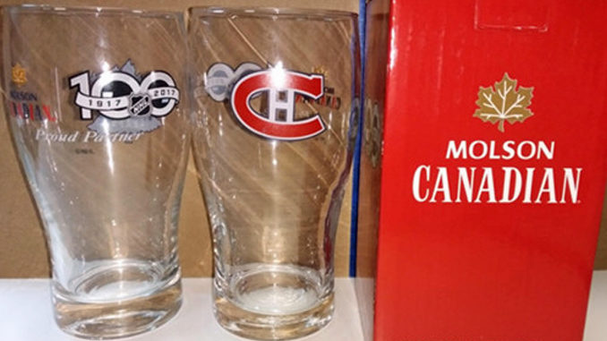 Molson Recalls 215,000 Collectible NHL Beer Glasses