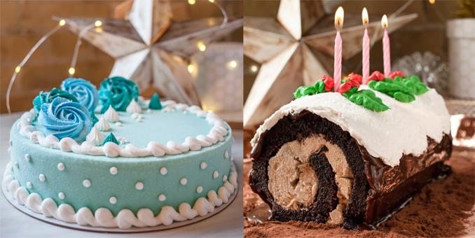 Winter Wonderland Cake and the return of Fudge Yule Log Cake