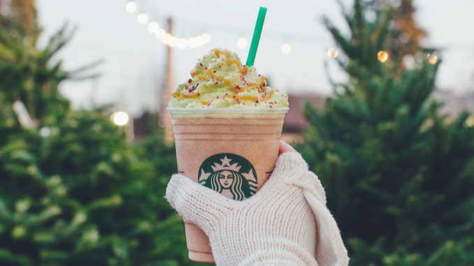Starbucks Canada Serves New Christmas Tree Frappuccino Until December 11, 2017