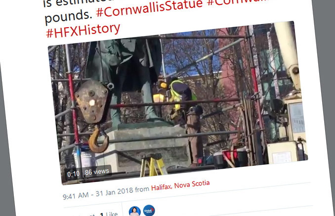 Halifax Begins To Remove Controversial Cornwallis Statue From Local Park
